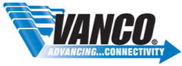 Vanco logo, Advancing...Connectivity