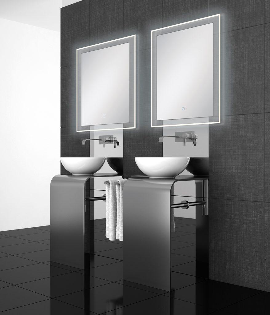 Eurofase- Mirrors Rectangular 2 Edge-lit , Touch Sensor Switch