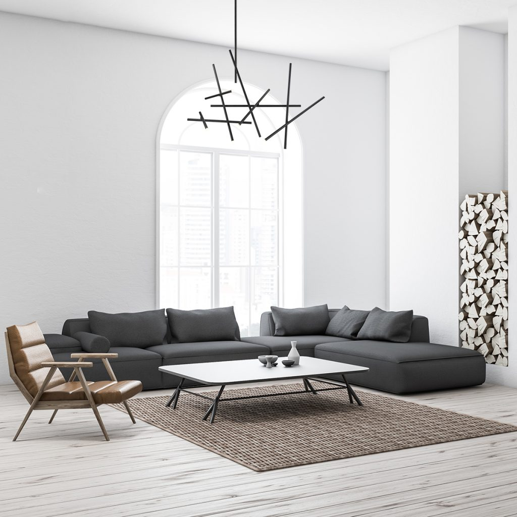 "Eurofase- Residential Interior 59"" CHANDELIER  Minimalist rods of LED crisscrossed at varied points"