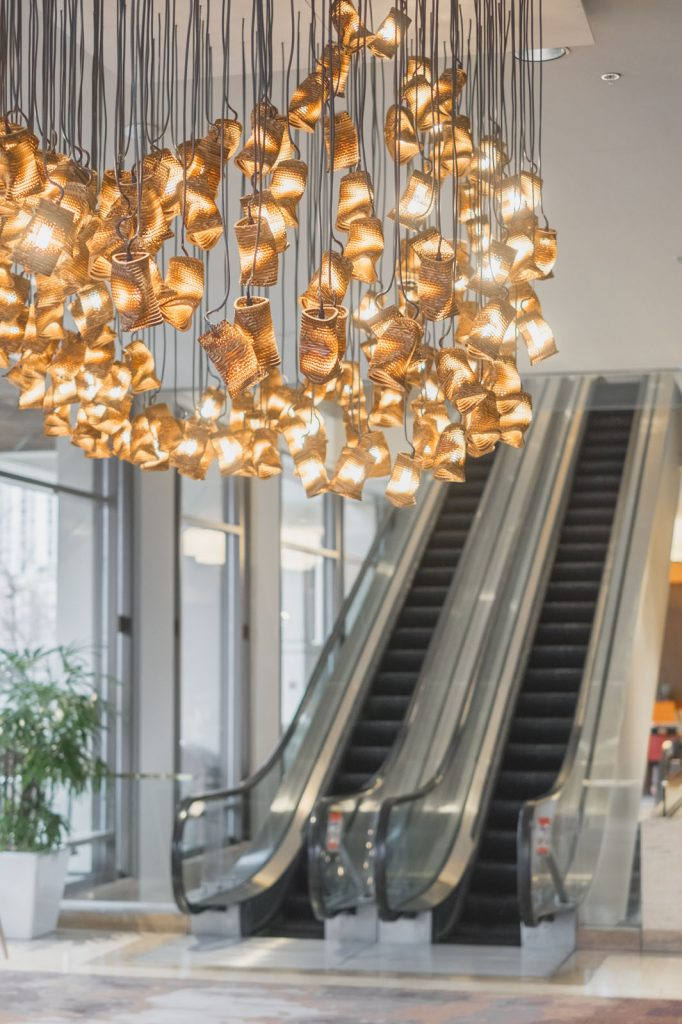 Graypants - Commercial Interior - Murmurations chandelier